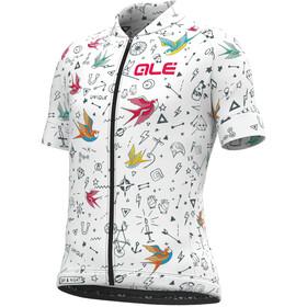 Alé Cycling Versilia Maillot Manches courtes Enfant, white